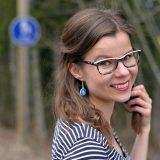 Finnish road sign design earrings by Minka.