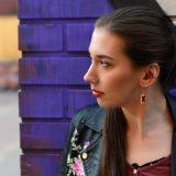 """Irritant"" warning symbol design earrings by Minka"