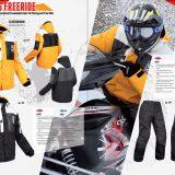 Sinisalo snowmobile apparel brochure design, autumn/winter 2012/13